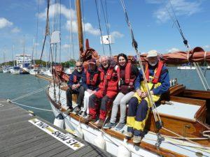 Crew at Lymington