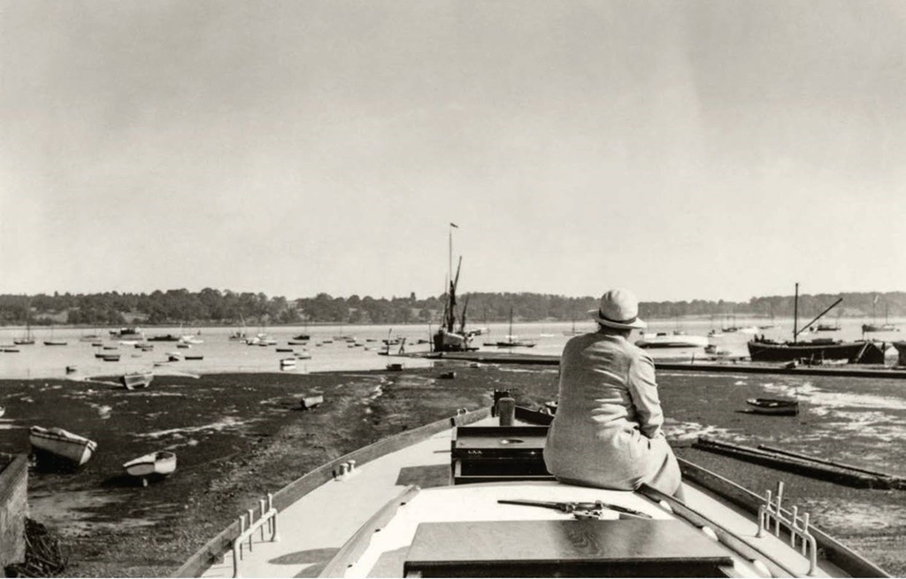 Evgenia Ransome at Pin Mill, 1938. Photo: Arthur Ransome/The Arthur Ransome Literary Estate/Special Collections, Leeds University Library.