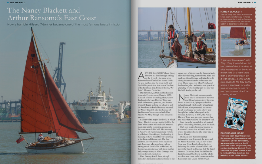 Arthur Ransome's Nancy Blackett in the Shotley Peninsula Guide     Swallows  and Amazons
