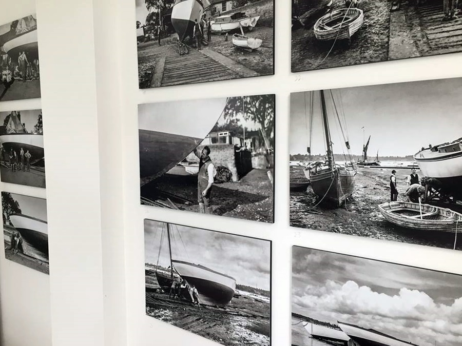 Some of the Arthur Ransome photographs on display at the Selina King Exhibition at Pin Mill. Photo: Anthony Cullen.